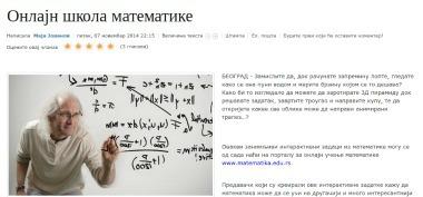 Onlajn škola matematike - dobre vesti