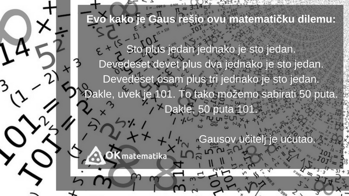 Karl Fridrih Gaus anegdota